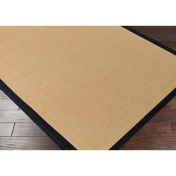 Hepatique Hand-Woven Sepia/Black Area Rug by Gracie Oaks