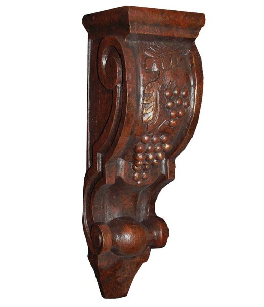 Large Grape Corbel Wall Shelf by Hickory Manor House