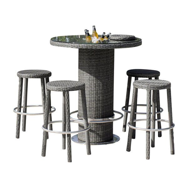Saliba 5 Piece Pub Table Set (Set of 5) by Latitude Run