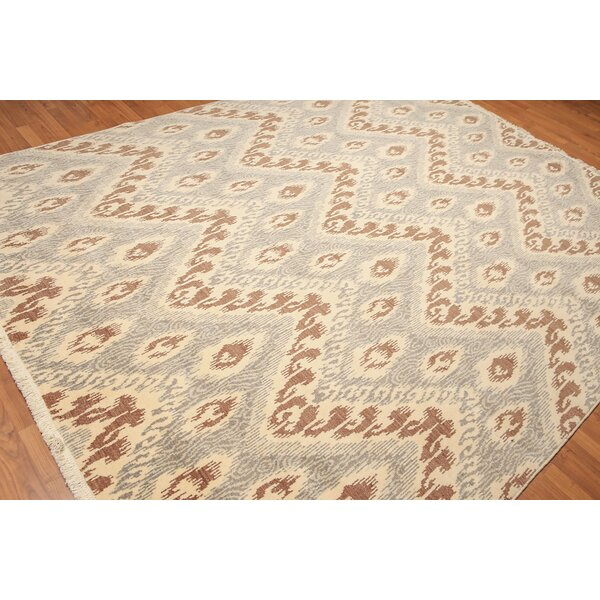 One-of-a-Kind Winona Pile Hand-Knotted Wool Brown/Beige/Gray Area Rug by Canora Grey