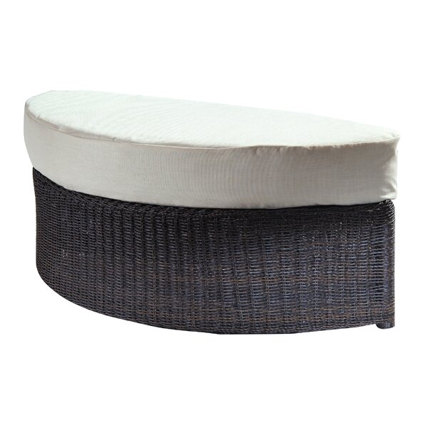Outdoor Haven Ottoman with Cushion by Padmas Plantation