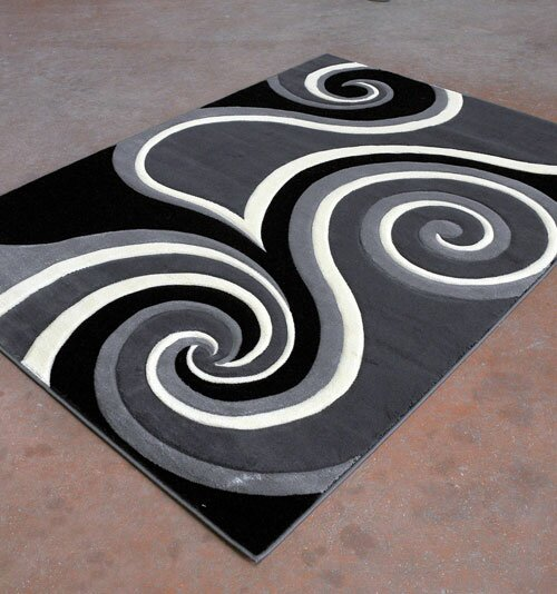 Antracite/Black Area Rug by Rug Tycoon