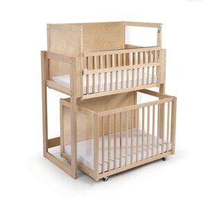 Space Saver 2 Level Folding Portable Crib With Mattress