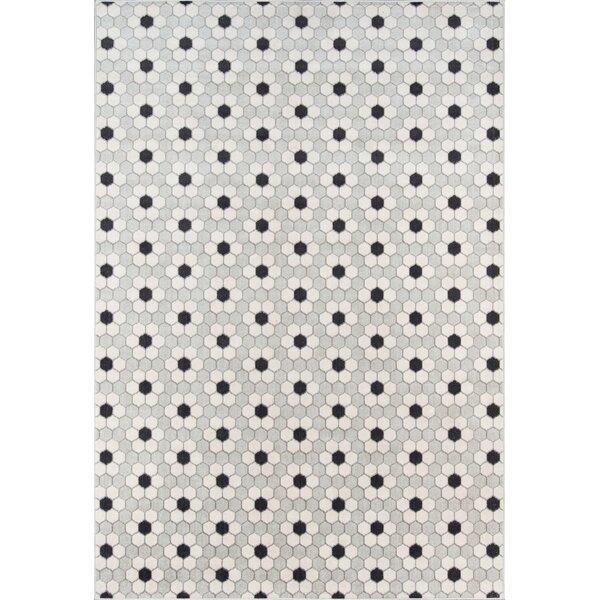 Hex Tile Gray Indoor/Outdoor Area Rug by Novogratz By Momeni