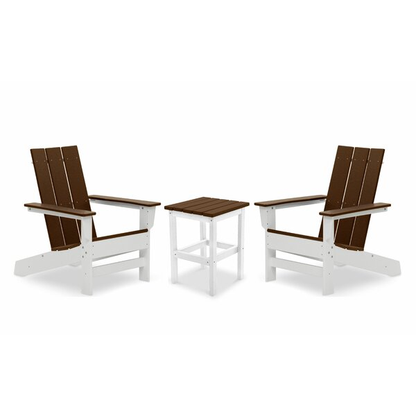 Oakdale Plastic/Resin Adirondack Chair with Table (Set of 2) by Breakwater Bay