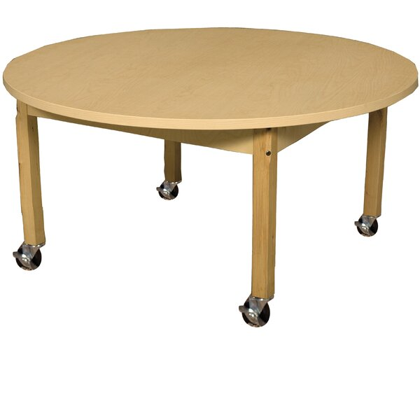 Mobile High Pressure Laminate 42 Circular Activity Table by Wood Designs
