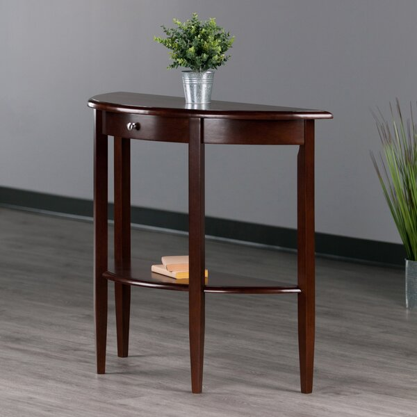 Calahan Walnut Half Moon Console Table By Red Barrel Studio