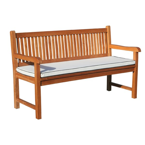 Elzas Triple Teak Garden Bench with Cushion by Darby Home Co