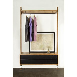 Low priced 46.75  W Clothing Rack By Rebrilliant