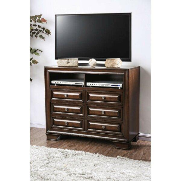 Home & Garden Bellamy Wooden Media 6 Drawer Dresser