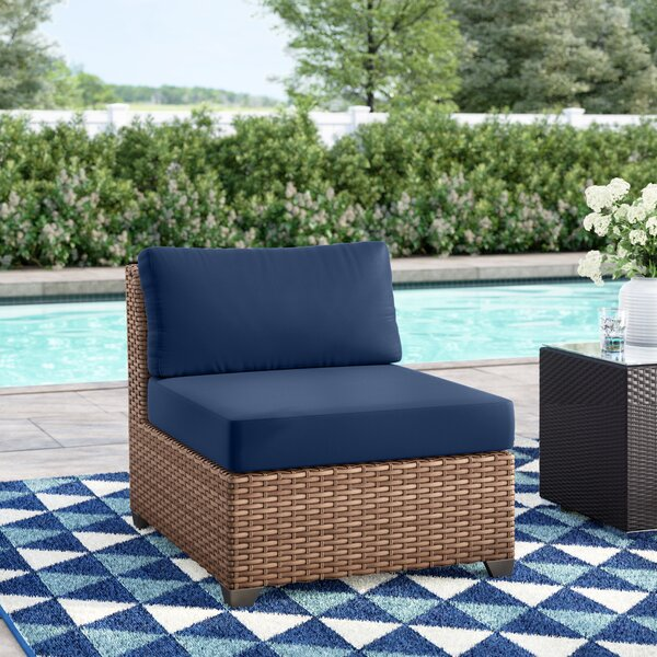 Waterbury Armless Sectional Chair with Cushions by Sol 72 Outdoor