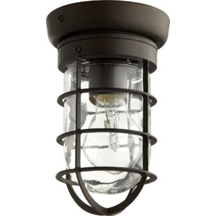 Affordable Price Bowery 1-Light Flush Mount By Quorum