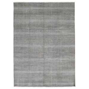 Margate Modern And Rayon From Bamboo Silk Hand Woven Wool Brown/Ivory Area  Rug