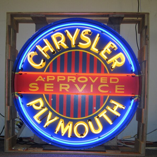 Chrysler Plymouth Neon Sign by Neonetics