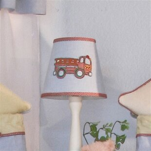 Embroidered lamp shade wayfair fire engine 8 cotton empire lamp shade aloadofball Images