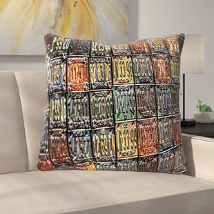 Rusted License Plates Throw Pillow