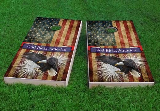 Bald Eagle - God Bless America Cornhole Game (Set of 2) by Custom Cornhole Boards