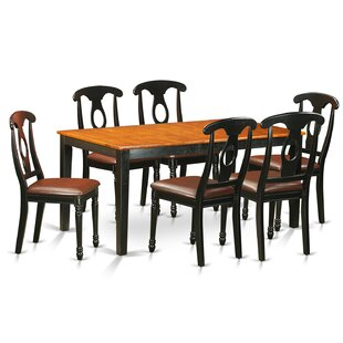 Pillar Traditional 7 Piece Dining Set with Rectangular Table Top by August Grove