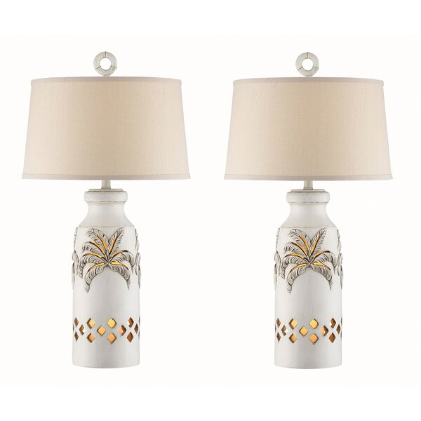 Henrietta Palm Tree 34 Table Lamp (Set of 2) by Highland Dunes