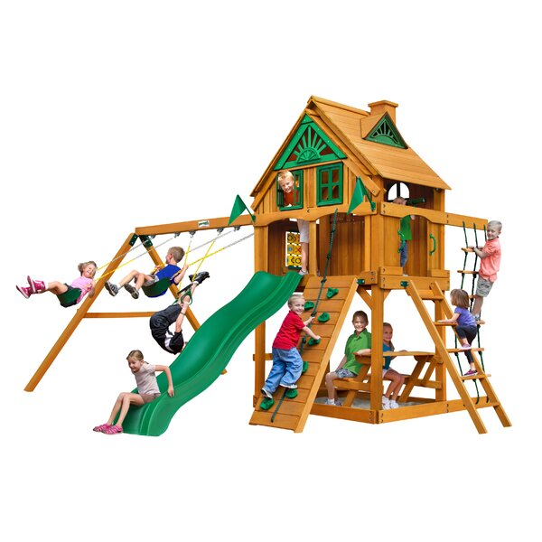 Chateau Treehouse Swing Set by Gorilla Playsets