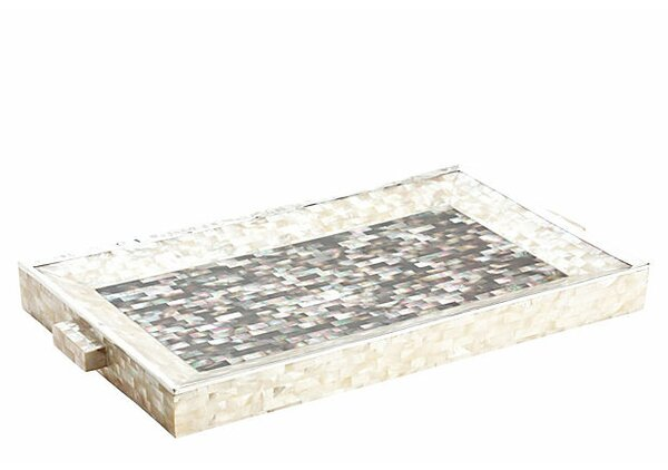 Calumet Ottoman Tray by Rosecliff Heights