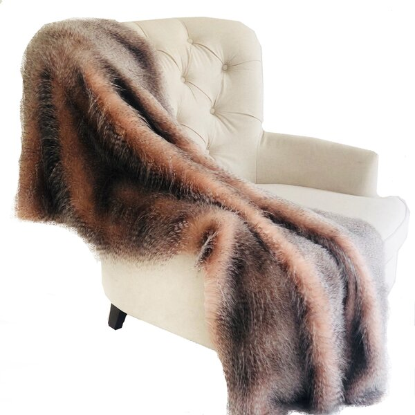 Merrimac Handmade Luxury Wild Ostrich Faux Fur Throw by Mercer41