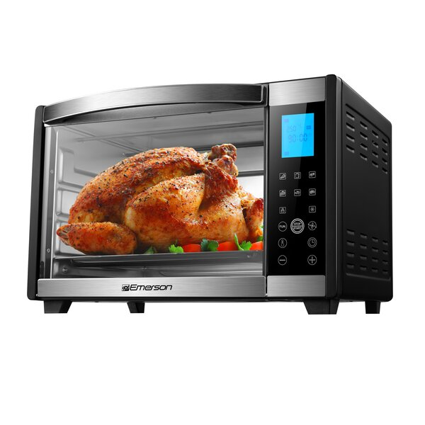 1 Cu. Ft 6 Slice Convection and Rotisserie Digital Panel Countertop Toaster Oven by Emerson Radio Corp.