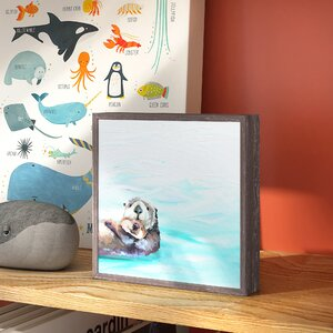 Guillermo You And Me Otters by Cathy Walters Mini Framed Canvas Art by Viv + Rae