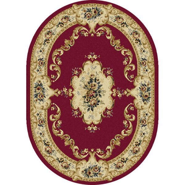 Grange Red Area Rug by Astoria Grand