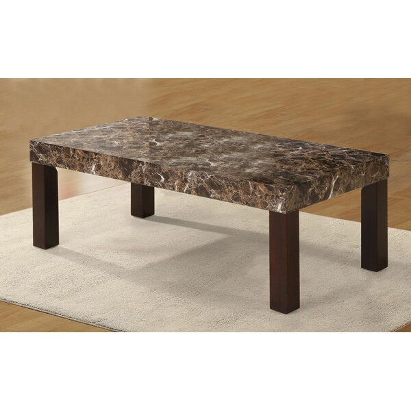 Mccullum Faux Marbelized Granite Coffee Table by Red Barrel Studio