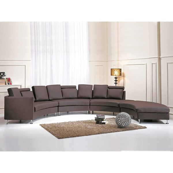 Pittenger Leather Modular Sectional by Orren Ellis