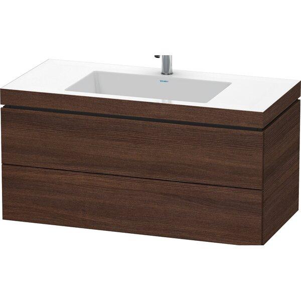 Apricot Pearl High Gloss 39 Wall-Mounted Single Bathroom Vanity Set