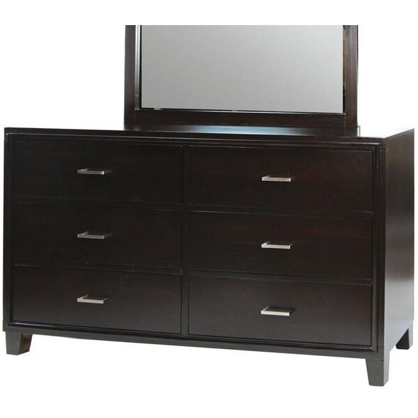 DiPippo 6 Drawer Double Dresser by Red Barrel Studio