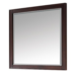 Andover Mills Northfield Rectangle Brown Wood Accent Mirror