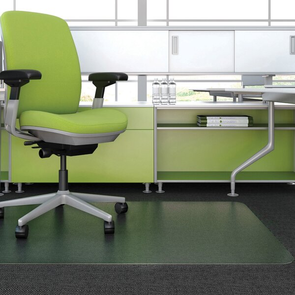 Carpeted Floor Straight Edge Chair Mat by Deflect-O Corporation