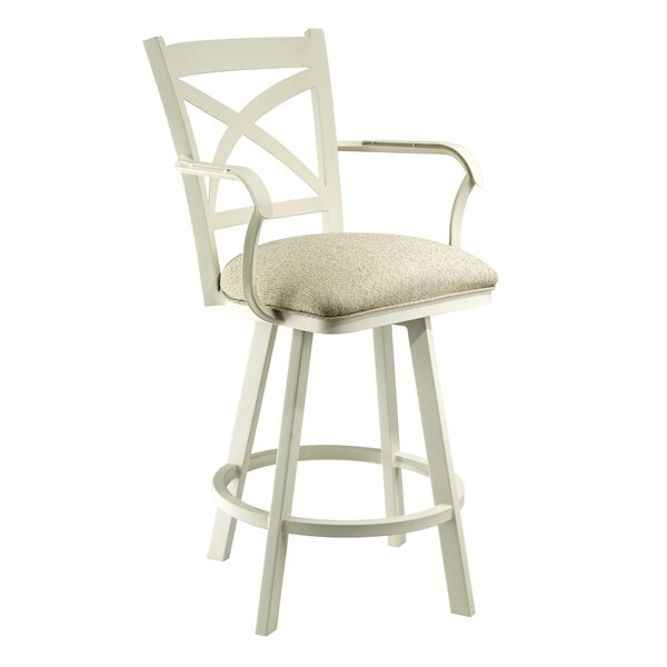 Linch 30 Swivel Bar Stool by Rosecliff Heights