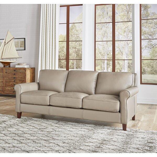 Josette Leather Sofa By Winston Porter
