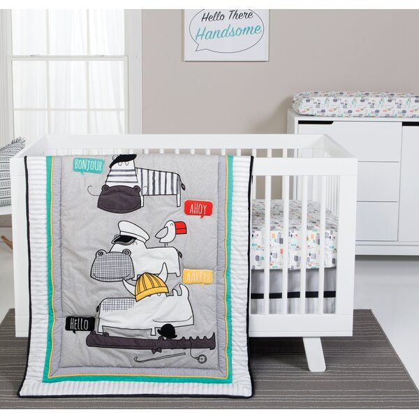 Hello 4 Piece Crib Bedding Set by Trend Lab