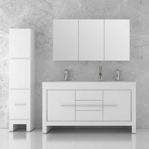 Cinar 59 Double Bathroom Vanity Set by Orren Ellis