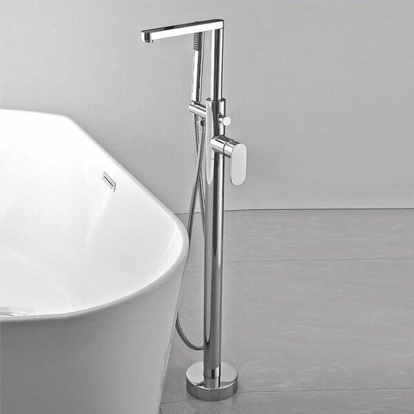Single Handle Floor Mounted Freestanding Tub Filler Trim with Hand Shower by HEATGENE HEATGENE