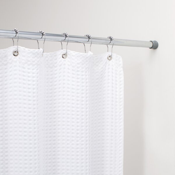 Wayfair Basics 76 Adjustable Straight Tension Shower Curtain Rod by Wayfair Basics™