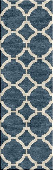 Blondene Durable Hand-Woven Blue Area Rug by Willa Arlo Interiors