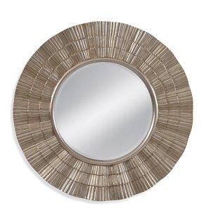 World Menagerie Luana Round Wall Mirror in Gold