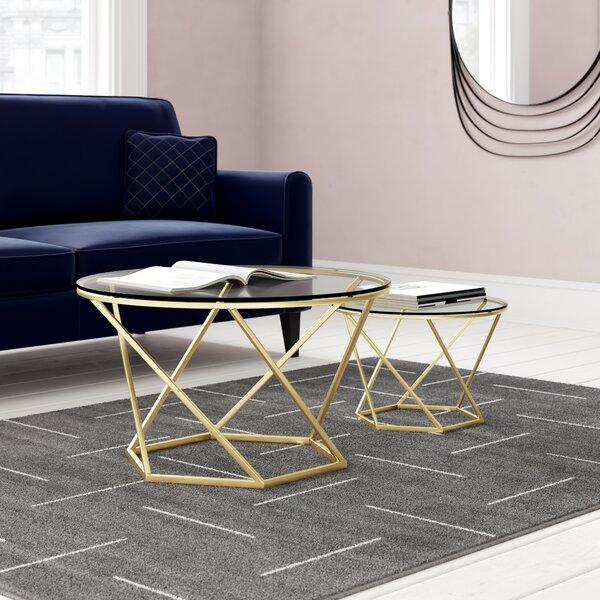 Adrianna Frame Bergeron 2 Piece Coffee Table Set By Everly Quinn