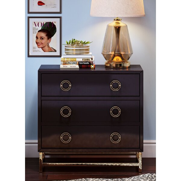 Bobbie 3 Drawer Chest by Everly Quinn