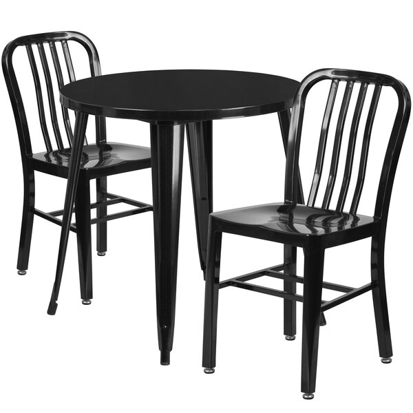 Cadwell Metal Indoor/Outdoor 3 Piece Bistro Set by Latitude Run