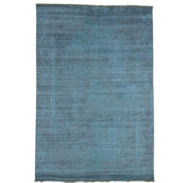 One-of-a-Kind Kendrick Heriz Hand-Knotted Blue Area Rug by Canora Grey