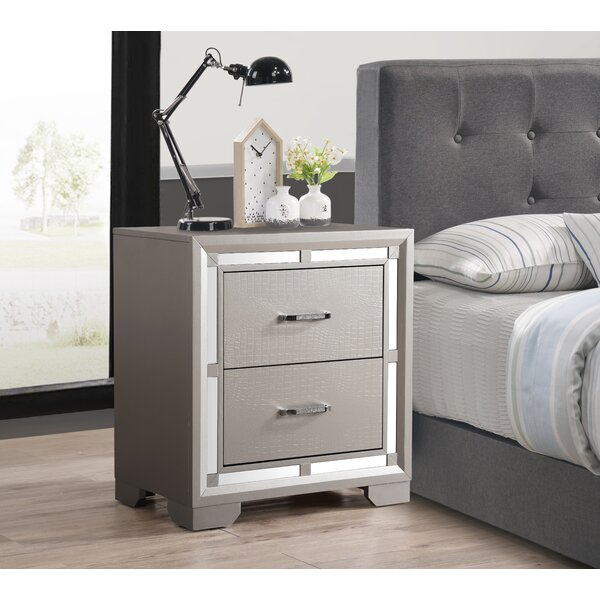 Mohn 2 Drawer Nightstand by House of Hampton