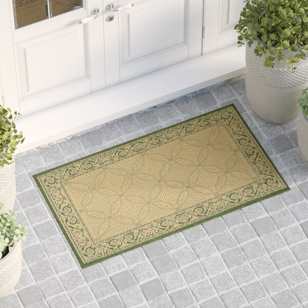 Beasley Indoor/Outdoor Natural/Olive Area Rug by Astoria Grand