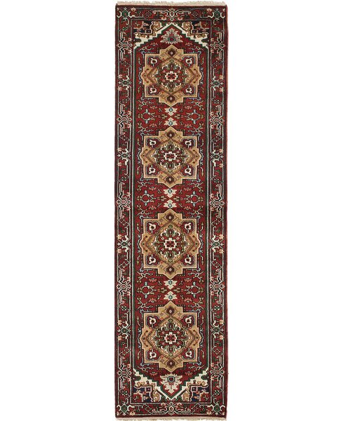 One-of-a-Kind Doerr Hand-Knotted Red Area Rug by Isabelline